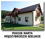 Pokoje Marta Beskid Żywiecki Międzybrodzie Bielskie